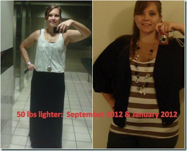 50 lbs lighter (September 2012 & January 2012)